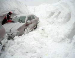 В Грузии из-за сильных снегопадов на некоторых участках трасс прекращено движение