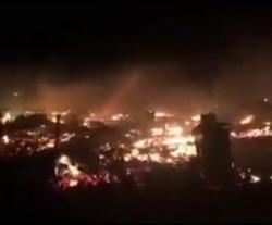 Во Франции сожгли лагерь беженцев