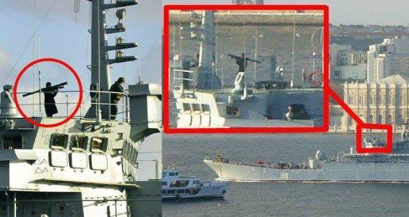 Провокация российских военных в Стамбуле фото; видео
