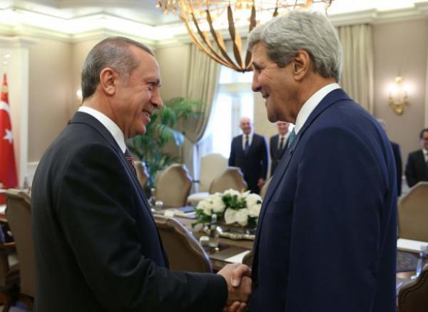 Эрдоган и Керри встретились в турецком посольстве